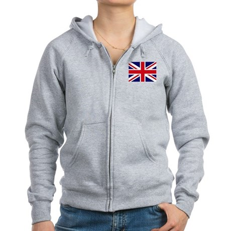 British Flag Women's Zip Hoodie