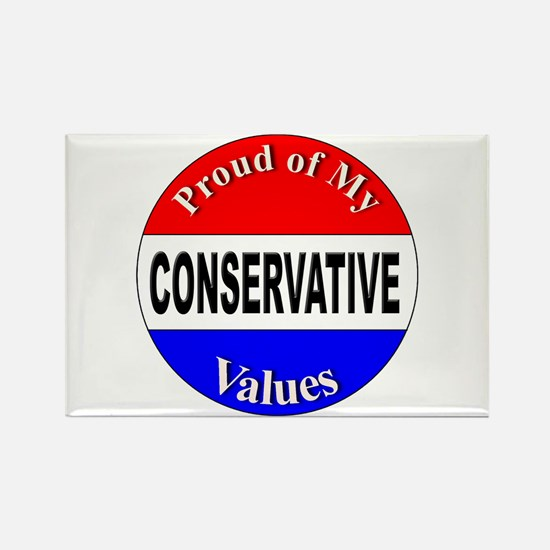 Proud Conservative Values Rectangle Magnet