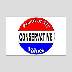 Proud Conservative Values Mini Poster Print