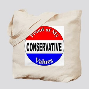 Proud Conservative Values Tote Bag
