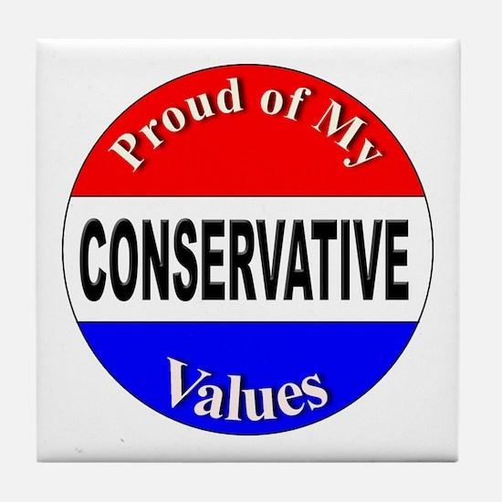 Proud Conservative Values Tile Coaster