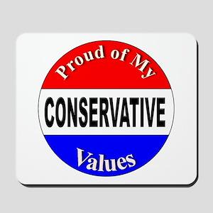 Proud Conservative Values Mousepad