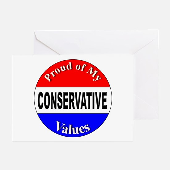 Proud Conservative Values Greeting Cards (Package
