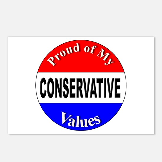 Proud Conservative Values Postcards (Package of 8)