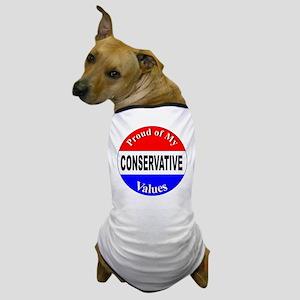 Proud Conservative Values Dog T-Shirt