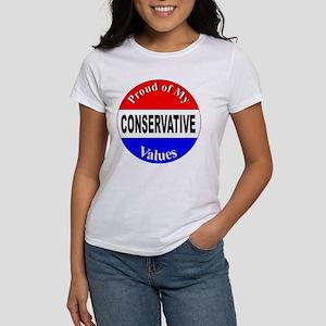 Proud Conservative Values (Front) Women's T-Shirt