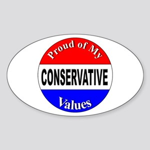 Proud Conservative Values Oval Sticker