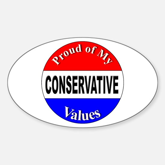 Proud Conservative Values Oval Decal