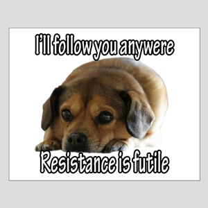 Resistance is Futile Puppy Small Poster