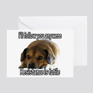 Resistance is Futile Puppy Greeting Card