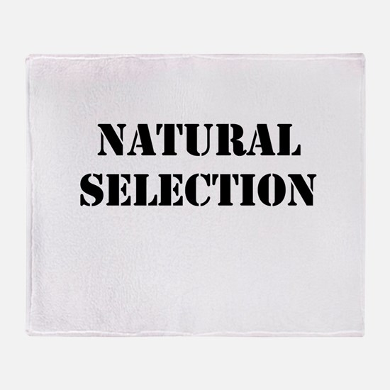 Natural Selection Throw Blanket