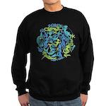 10 Mermaids Sweatshirt (dark) shown in Black
