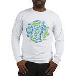 10 Mermaids Long Sleeve T-Shirt shown in Ash