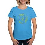 Womens 10 Mermaid Dark tee shown in Caribbean Blue
