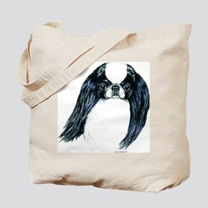 Japanese Chin Portrait Tote Bag