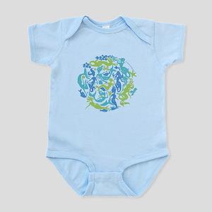 10 Mermaids Infant Bodysuit shown in Baby Blue