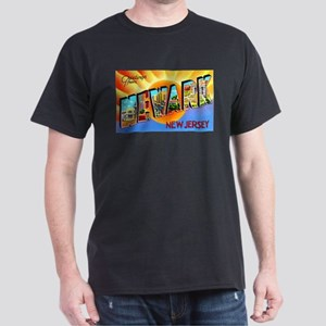 Newark New Jersey Greetings (Front) Dark T-Shirt