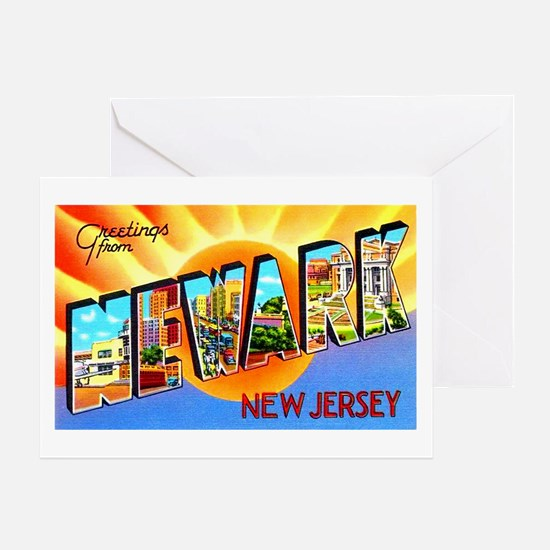 Newark New Jersey Greetings Greeting Card