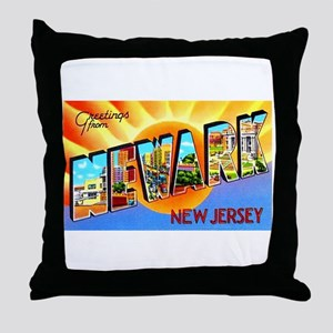 Newark New Jersey Greetings Throw Pillow