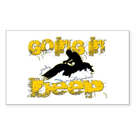 Going In Deep Rectangle Sticker