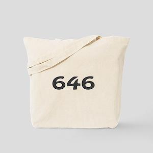646 Area Code Tote Bag