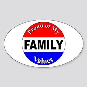 Proud Family Values Oval Sticker