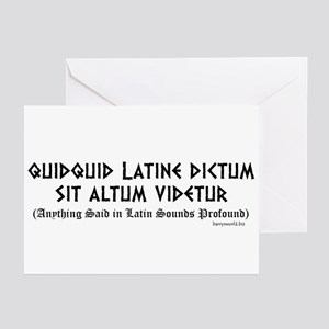Funny latin phrases greeting cards cafepress quidquid latine greeting cards pk of 10 m4hsunfo