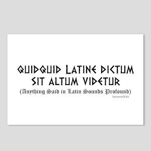 Quidquid Latine Postcards (Package of 8)
