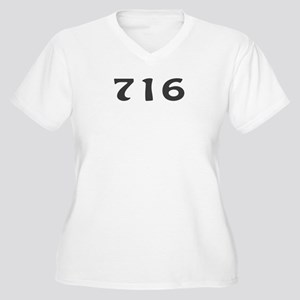 716 Area Code Women's Plus Size V-Neck T-Shirt