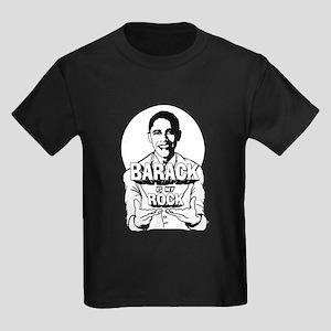 Barack is my Rock Kids Dark T-Shirt