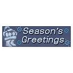 Santa Season's Greetings Bumper Sticker (10 pk)