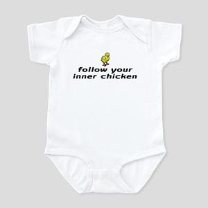Follow your inner chicken Infant Bodysuit