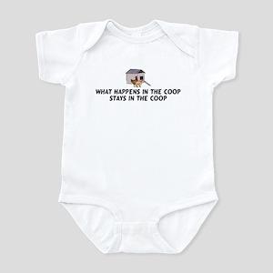 What happens in the coop Infant Bodysuit