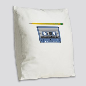 Old School When I Was A Kid Re Burlap Throw Pillow
