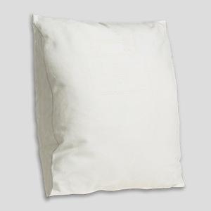 Old School Player Boom Box Burlap Throw Pillow