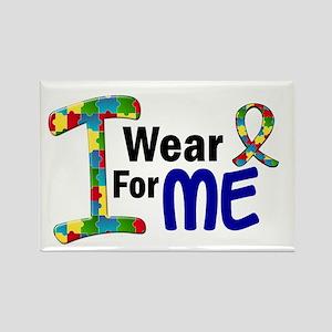I Wear Puzzle Ribbon 21 (ME) Rectangle Magnet