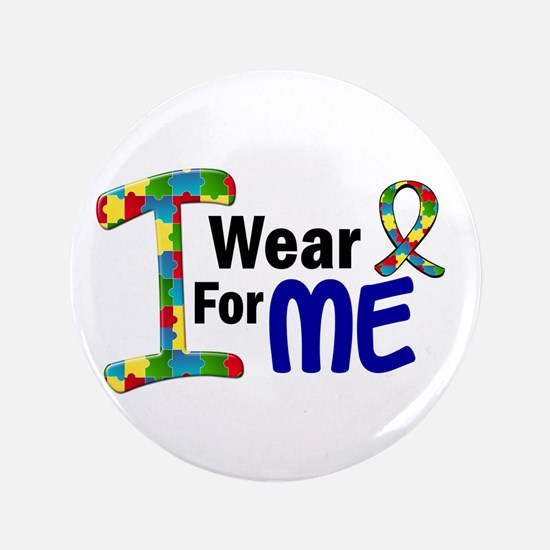 "I Wear Puzzle Ribbon 21 (ME) 3.5"" Button"