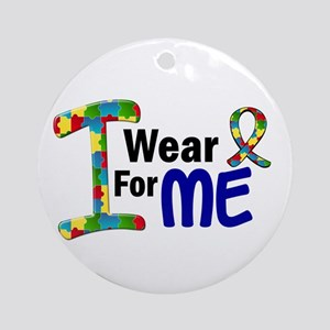 I Wear Puzzle Ribbon 21 (ME) Ornament (Round)