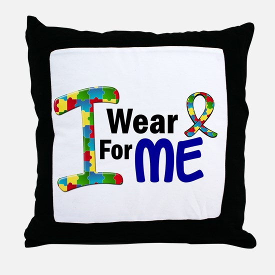 I Wear Puzzle Ribbon 21 (ME) Throw Pillow