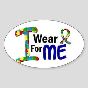 I Wear Puzzle Ribbon 21 (ME) Oval Sticker