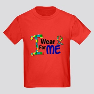 I Wear Puzzle Ribbon 21 (ME) Kids Dark T-Shirt