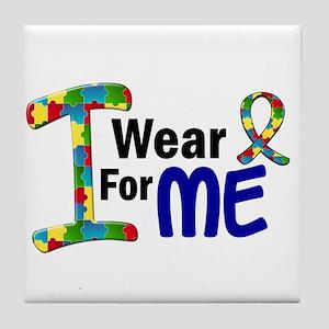 I Wear Puzzle Ribbon 21 (ME) Tile Coaster