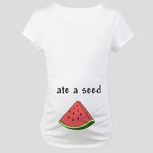 WatermelonWhite Maternity T-Shirt