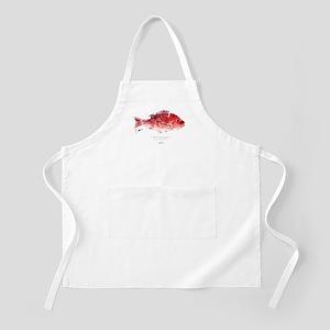 Red Snapper - Gyotaku fish print - BBQ Apron