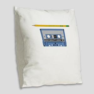 Old School Never Forget Rewind Burlap Throw Pillow