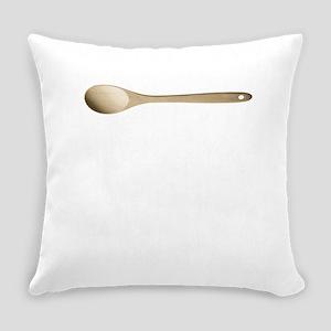 Old School Mom Wooden Spoon Surivo Everyday Pillow