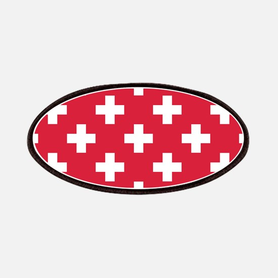 Red Plus Sign Pattern Patch