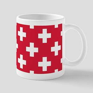 Red Plus Sign Pattern Mug