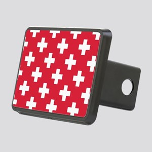 Red Plus Sign Pattern Rectangular Hitch Cover