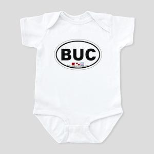 Buckroe Beach VA - Oval Design Infant Bodysuit